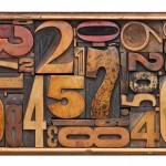 antique wood number abstract